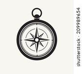 Black Compass Silhouette ...