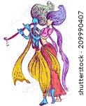 lord krishna with radha 1 | Shutterstock .eps vector #209990407