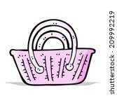 cartoon basket | Shutterstock .eps vector #209992219