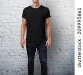 Man Wearing Black T Shirt....