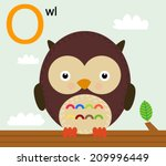 animal alphabet for the kids  o ... | Shutterstock .eps vector #209996449