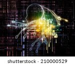 artificial intelligence series. ... | Shutterstock . vector #210000529