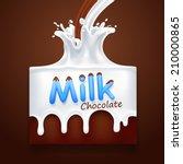 milk with chocolate. vector...