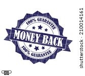 money back rubber stamp ... | Shutterstock .eps vector #210014161