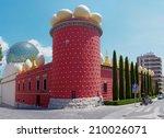 figueres  spain   july 26  the...   Shutterstock . vector #210026071