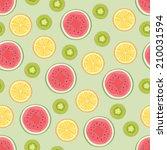 fruits seamless pattern | Shutterstock .eps vector #210031594