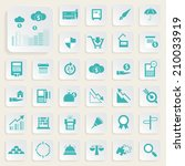 finance and money icon set. | Shutterstock .eps vector #210033919