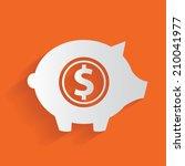 saving money clean vector | Shutterstock .eps vector #210041977