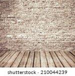 interior room with brick wall... | Shutterstock . vector #210044239