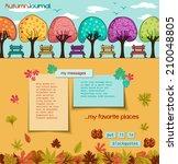 autumn journal   whimsical tree ...   Shutterstock .eps vector #210048805