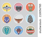 set of funny monsters. | Shutterstock .eps vector #210056785