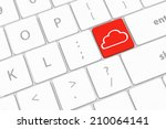 cloud computing concept on... | Shutterstock . vector #210064141