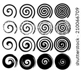 Set Of Spiral Motion Elements ...
