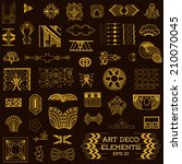 art deco vintage frames and