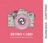 vintage photo camera with... | Shutterstock .eps vector #210070465
