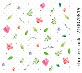 watercolor seamless pattern... | Shutterstock . vector #210070819