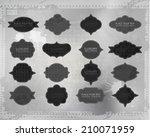vector distressed frame set.... | Shutterstock .eps vector #210071959