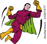 superhero flying | Shutterstock . vector #21007477