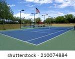 tennis court | Shutterstock . vector #210074884
