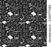 seamless pattern with various... | Shutterstock .eps vector #210077485