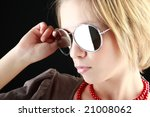 portrait of a styled... | Shutterstock . vector #21008062