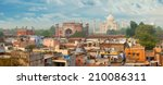panorama of agra city  india.... | Shutterstock . vector #210086311