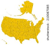 map of the usa on the abstract ...   Shutterstock .eps vector #210087085