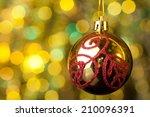 elegant reflective christmas... | Shutterstock . vector #210096391