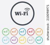 free wifi sign. wifi symbol.... | Shutterstock .eps vector #210098971