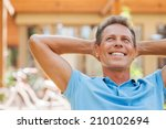 happy day dreamer. relaxed...   Shutterstock . vector #210102694