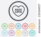 safe love sign icon. safe sex... | Shutterstock .eps vector #210106027