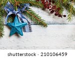 christmas tree with decoration... | Shutterstock . vector #210106459