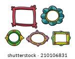 doodle frame set    Shutterstock .eps vector #210106831