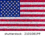 Colorful American Flag Mosaic