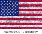 Colorful American Flag Mosaic
