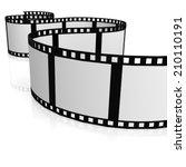 isolated film strip | Shutterstock . vector #210110191