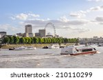 Boats On River Thames In Londo...
