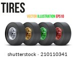 set of sports car colorful... | Shutterstock .eps vector #210110341