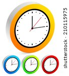 clock  time concept | Shutterstock .eps vector #210115975