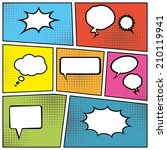 blank comic speech bubbles in... | Shutterstock . vector #210119941