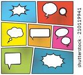 blank comic speech bubbles in... | Shutterstock . vector #210119941