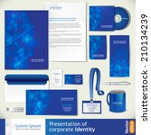 blue corporate identity... | Shutterstock .eps vector #210134239