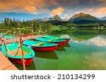 wonderful mountain lake in...   Shutterstock . vector #210134299