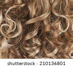 curly hair fragment as a... | Shutterstock . vector #210136801