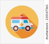 ambulance flat icon with long... | Shutterstock .eps vector #210147361