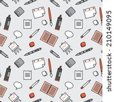 seamless pattern with office... | Shutterstock .eps vector #210149095