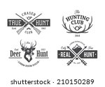 vector set of vintage hunting... | Shutterstock .eps vector #210150289