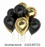 Gold And Black Party Balloon