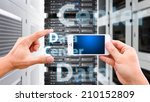 smart phone and file control... | Shutterstock . vector #210152809
