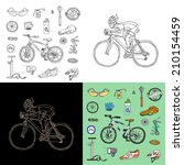 activity,background,bicycle,bike,biking,black,cartoon,chalk,chalkboard,collection,colorful,competition,cycle,cyclist,doodle